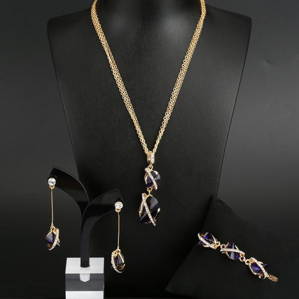VANFI JEWELRY 2 neues Modell überzogener Kristallschmuck aus 18 Karat Gold
