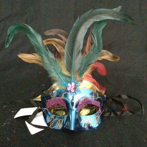 2016 Hot sales Women Spray paint crystal feather mask venetian party decoration carnival mardi gras bar prop wedding gift 30pcs