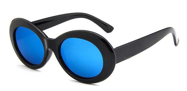 shinny black/blue