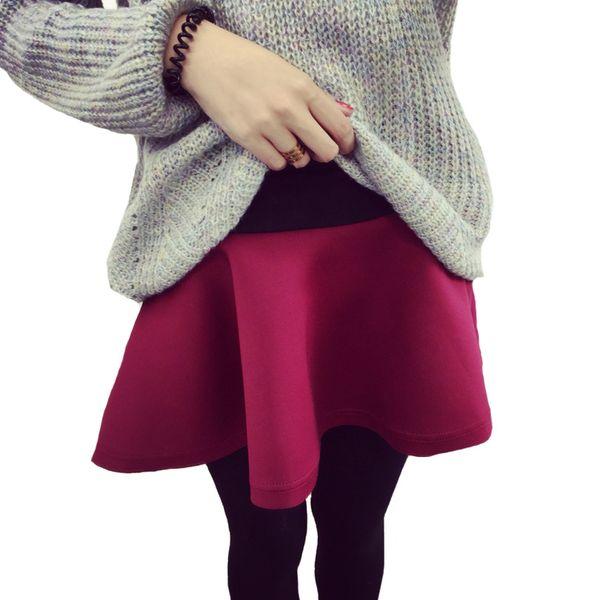 Fake Two Pieces Leggings Skirts Winter Fashion Women Leggings Skirt With Pants Thickening Black Red Footless Leggins