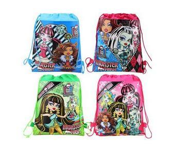 monster high drawstring bags monster high backpacks handbags children's school bags kids' shopping bags Children's Bags free shipping