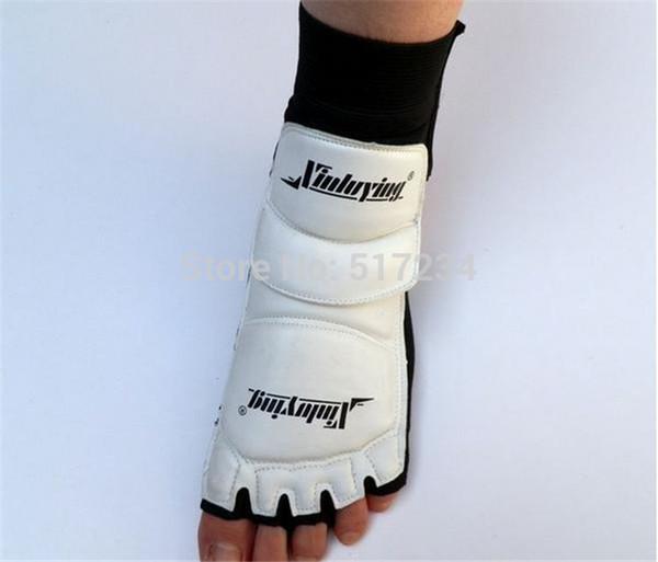 Wholesale-New 2015 Hot Sell Professional Taekwondo Muay Thai Gloves Wushu Foot Pad Taekwondo Protective Gear Free Shipping