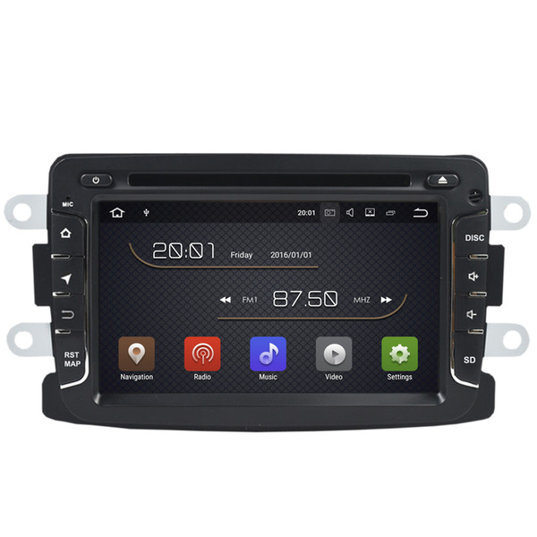 "7"" Android 7.1 System Car DVD Stereo For Renault Duster Dacia Logan II Captur Sandero Lada Xray 2 With GPS Navi 2G RAM BT 4.0 WIFI 4G Radio"