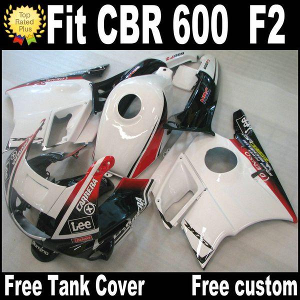 Motorcycle fairings for HONDA CBR 600 1991 1992 1993 1994 F2 CBR600 91 - 94 red black white plastic fairing kit RP8