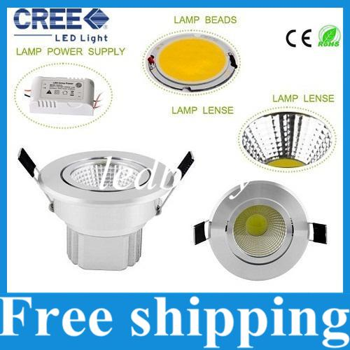 best selling Ultar Bright COB 21W 18W 15W 12W 9W Recessed Led Downlights AC 85-277V Dimmable Led Down Lights Warm Cool White + Power Drivers