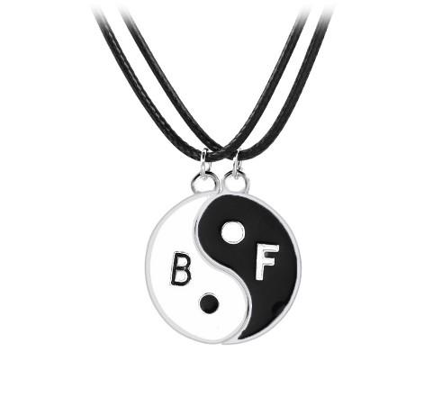 Best Friends Yinyang Pendant Necklace Set Silver Plated Music Note Necklaces Gift Idea Unique Jewelry Chokers Necklaces