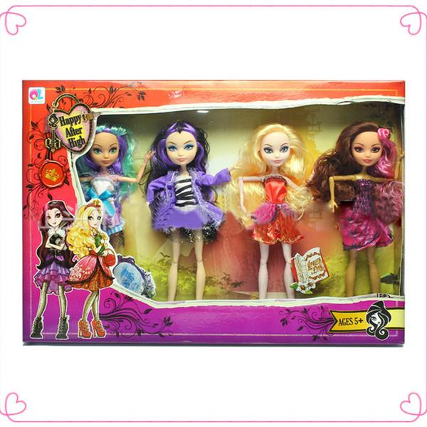 Atacado- 4pcs / lot boa qualidade 25cm monstro sempre após alta bonecas moda articulações anime modelo de brinquedo para meninas presente brinquedos boneca acessórios
