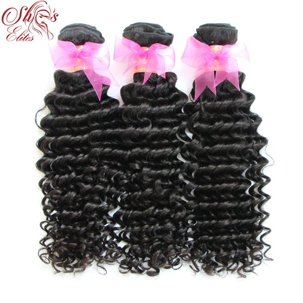 Queen Hair Human Brazilian Hair Deep Wave Machine Weft Dhl 12