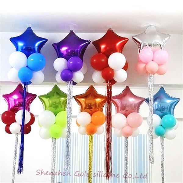 Günstige Weihnachtsfeier.Großhandel Hot Party Dekoration Sterne Ballon Günstige Süße Party Ballons Für Weihnachtsfeier Liefert Für Hochzeit Event Dekorationen Von