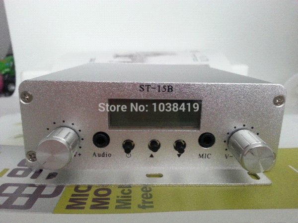 Retail And Wholesale New 15w Fm Broadcast Transmitter Pll Stereo Fm Radio  Broadcast Transmitter Use In 1 10 Km Distance Radio Station By Usually