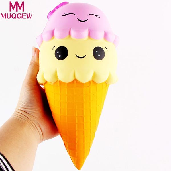 Großhandel-22cm Kawaii Jumbo Squishy Langsam Steigenden Exquisite Fun Ice Cream Scented Squishy Charme Langsam Steigenden Simulation Kid Toy