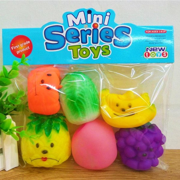 Cute Color Fruits Rubber Baby Bath Beach Toys Safety Press Sounds Kids Gifts Bathing Swiming Sand Play Water Fun Children Toys 60pcs SK588