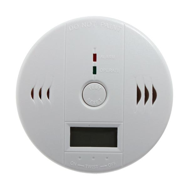 best selling CO Carbon Monoxide Detector Alarm Sensor Poisoning LCD Gas Fire Warning Alarm Sensors Brand new white 20pcsGas Analyzers