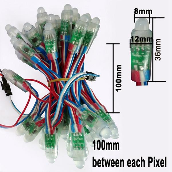 12mm WS2811 2811 IC RGB Led 모듈 문자열 방수 DC 5V 디지털 풀 컬러 LED 픽셀 빛 무료 배송