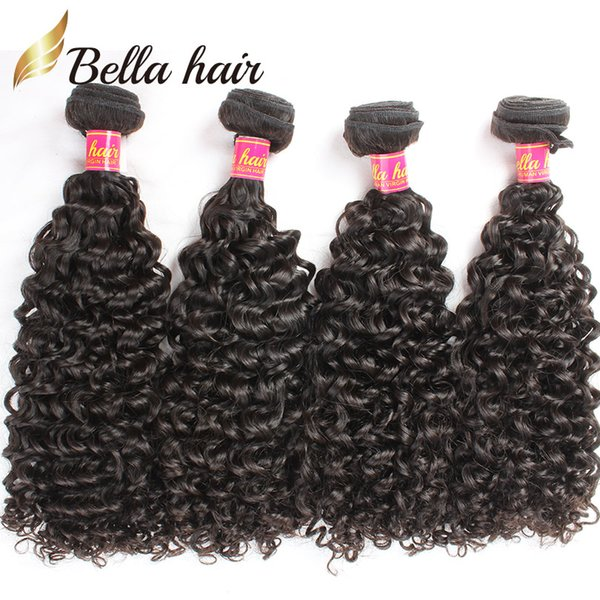 Kinky Curl Brazilian Hair Weaves Virgin Remy Human Hair Extensions Curly Weaves 4pcs/lot Hair Bundles Whole in Bulk Bellahair 9A
