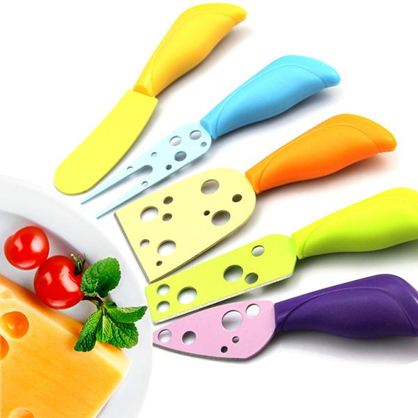 Wholesale Colorful Plastic Handle Cheese Butter Fork Spreader Stainless  Steel Knives Sets Cutter Tools Cheap Kitchen Knives Set Chef Kitchen Knives  ...