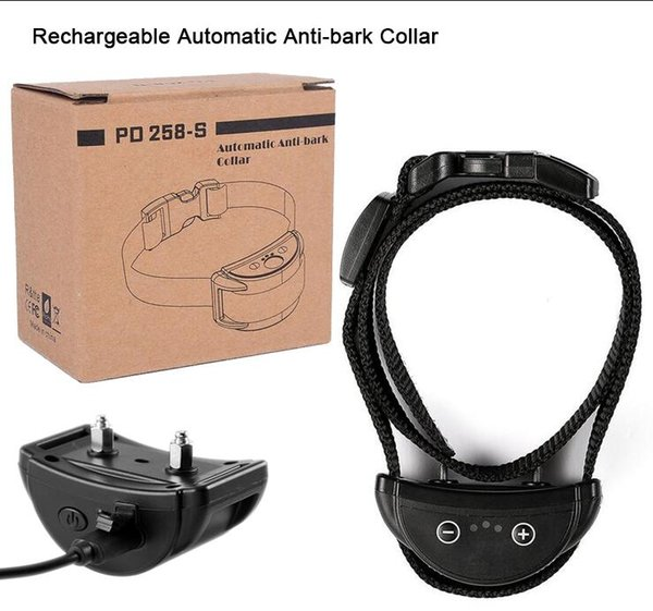 Bark Collar USB Rechargeable Automatic Anti-bark Collar Dog Training Collar Induction barking 50set DHL FREE Shipping