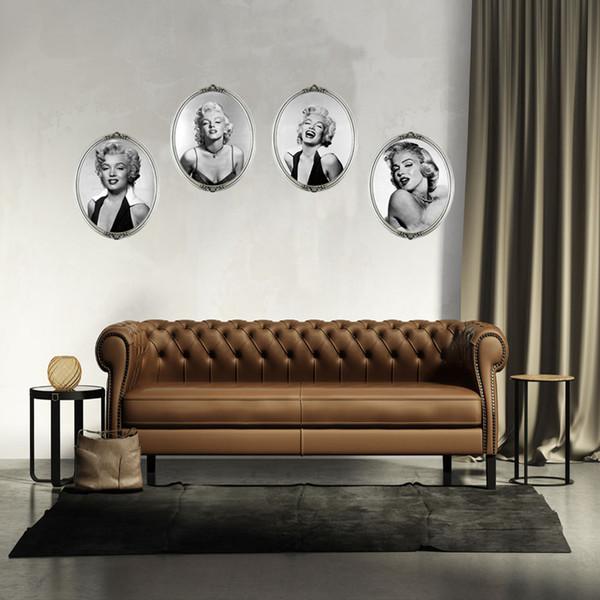 4 STÜCKE Marilyn Monroe Kopf Wanddekoration Wandbilder Sexy Porträt von Marilyn Monroe Wandkunst Aufkleber Aufkleber Sofa hintergrund Tapete Poster