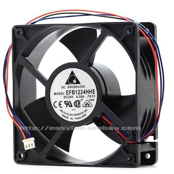 best selling Original Delta EFB1224HHE 24V 0.30A 12038 12CM inverter cooling fan EFB1224SHE EFB1224LE EFB1224ME EFB1224HE EFB1224VHE