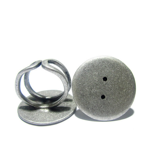 Beadsnice Brass Ring Base Adjustable with 25mm Round Pad Handmade Rings Fashion Jewelry Findings Wholesale Lead Safe Nickel Free ID 10426