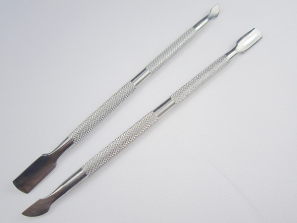 50PCS Stainless Steel Cuticle Pusher Leftover Skin Remover Manicure Nail Silver Nail Salon