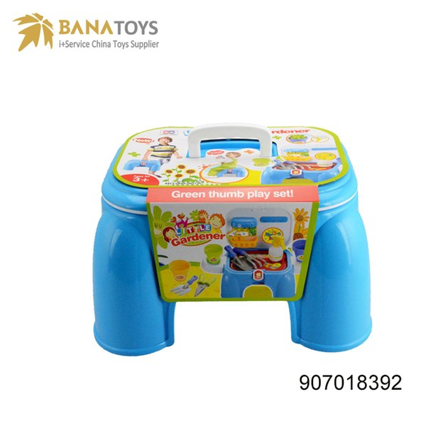 kids toy multifunction table chair plastic storage box garden tool for kids mini chair game folding chair Free Shipping