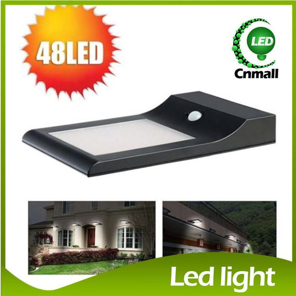 Solar LED Wall Light Outdoor Wall Light Garden Thin Solar Lamp 48LED 5W  Super Bright Solar