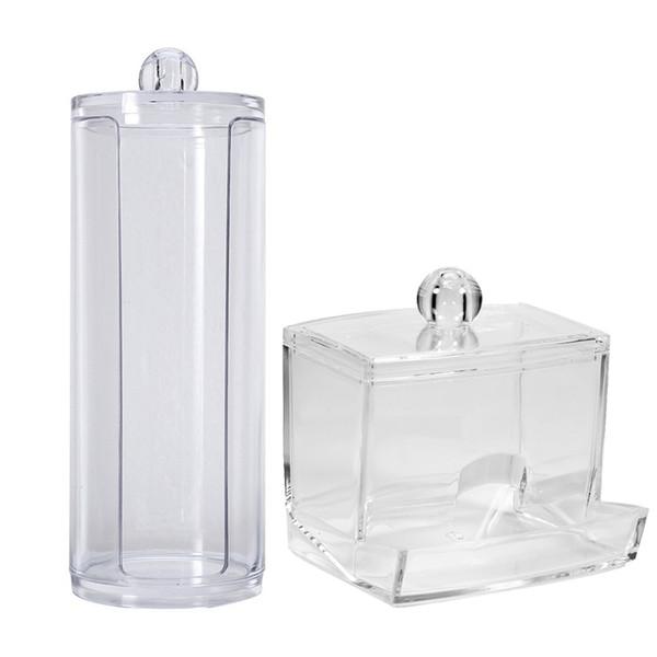 Acryl Wattestäbchen Makeup Organizer Aufbewahrungsbox Portable Container Bilden Wattepad Box Aufbewahrungskoffer Organizer Für Kosmetik