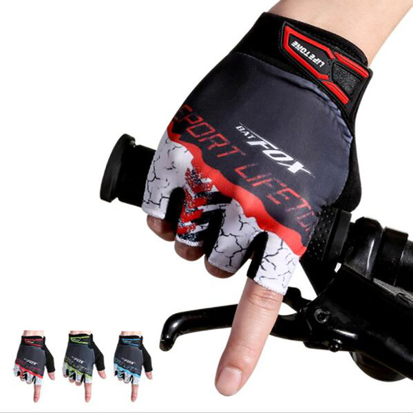 2017 New Summer Cycling Gloves Men Half Finger Nylon Breathable Sport Bicycle Gloves Male MTB Bike Gloves For Fitness