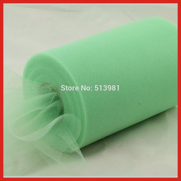 "Mint Green Tulle Roll Spool 6""x100YD Tutu DIY Circle TuTu Skirt Fabric Wedding Bow Decorations"