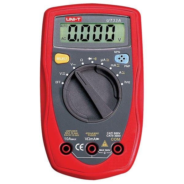 UNI-T UT33A Auto Range Handheld/Palm-Size LCD Digital Multimeter AC DC OHM Volt Tester Meter order<$18no track