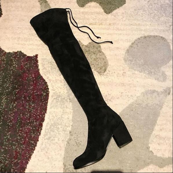 Großhandel Herbst Und Winter Oberschenkelhohe Single Stiefel