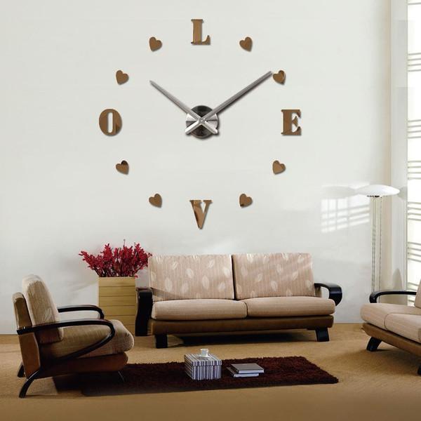 Großhandel 2016 Wanduhr Quarz Wohnzimmer Diy Uhren Modernes Design Uhr  Horloge Murale Acryl Spiegel 3D Aufkleber Designer Wanduhr Von  Jonemark2013, ...