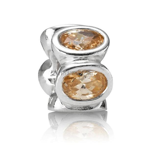Vintage Large Glass Rhinestones 925 Sterling Silver European Bead Charms For Brand DIY Women Snake pandora Bracelet Chain Bangle Jewelry