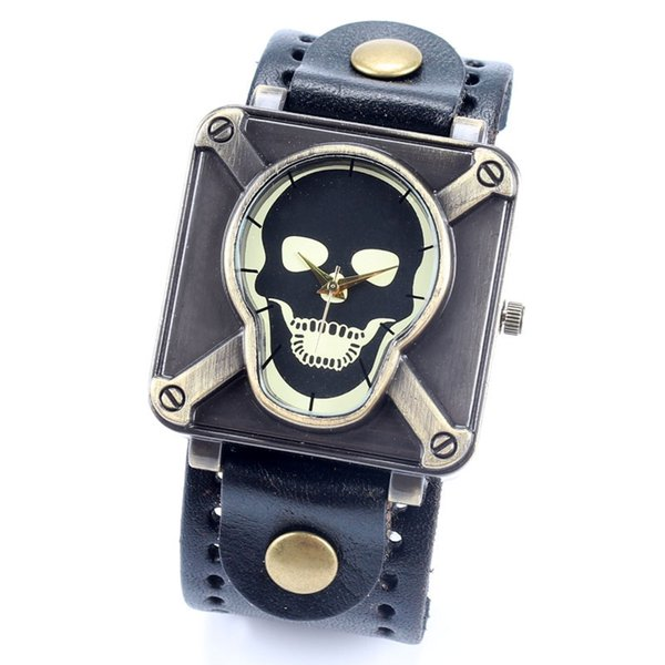 skull wrist watch for men women ladies china post air mail