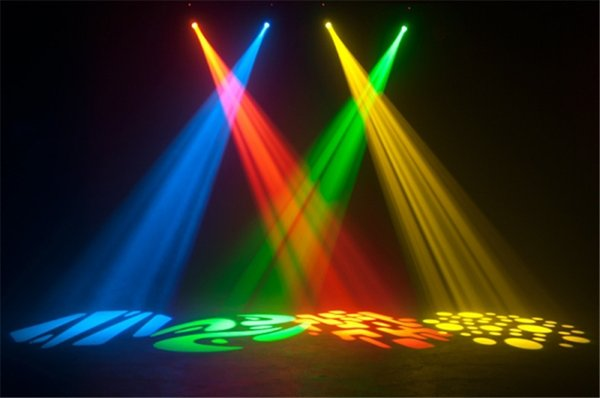 Il trasporto libero 2pcs / lot 30W LED Moving Head Spot luce del palcoscenico AC90 - 240V mini Moving Gobo Pattern Light 9/11 canali DMX512
