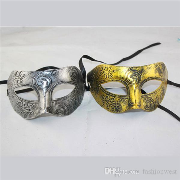 Halloween Mask Silver Mask Scary Masks Face Mask New Roman Gladiator Mens Masquerade Eye Mask Masked Ball Halloween Fancy Dress Party Cool