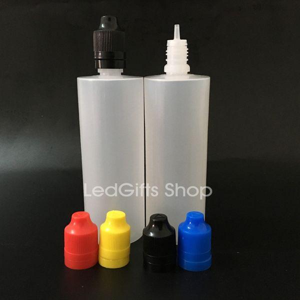 Spedizione gratuita Colorful Tamper Evident Seal e Child Proof Cap Empty Bottle 120ml E Bottiglie di plastica liquide con punte sottili sottili