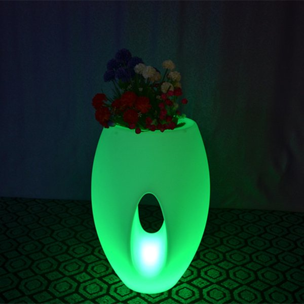 2 pieces/LOT Outdoor/indoor waterproof 24Keys Remote control color changeable big luminous pots of led ice bucket for illuminated furniture