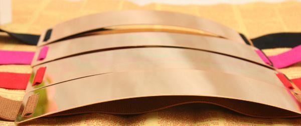 Großhandel Kostenloser Versand Breite Metall Damen Gürtel. Lady Mode Übertrieben Eisenspiegel Gold Gürtel. Frauen Mit Elastischem Bund Rock Mantel Von