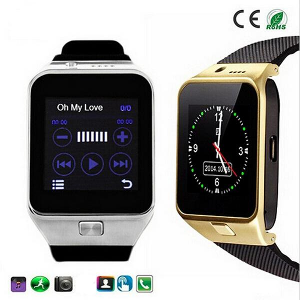 GV09 Smart watch Smartwatch with Camera Bluetooth SMS handfree Function Support GSM SIM TF Card for iPhone and Android Phone