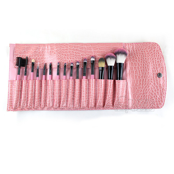 15PCS Professional Cosmetic Brush Make Up Makeup Brushes Brush Sets Black Pouch Bag Lady Makeup Tools