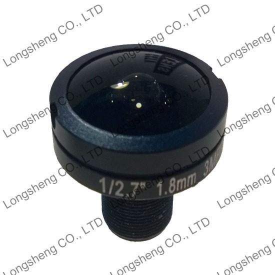 "HD Panorama 1.8mm 3.0 Megaixel 1/2.7"" Wide Angle 180 Degree Fish eye Lens for HD IP CCTV Camera"