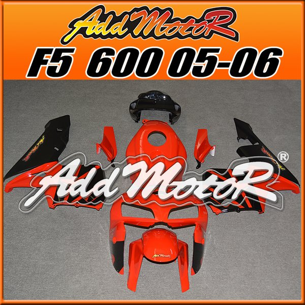Addmotor Injection Mold Fairings Fit Honda F5 CBR600RR 2005 2006 CBR 600 RR 05 06 ABS Plastic Body Kit Orange Black H65189 +5 Free Gifts