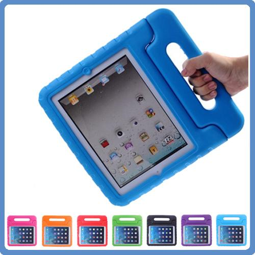 For Apple iPad mini 1/2/3 mini4 Kids Cover Safe Handle Shockproof Case EVA Foam Shakeproof Stand Protective Cover 7 Colors