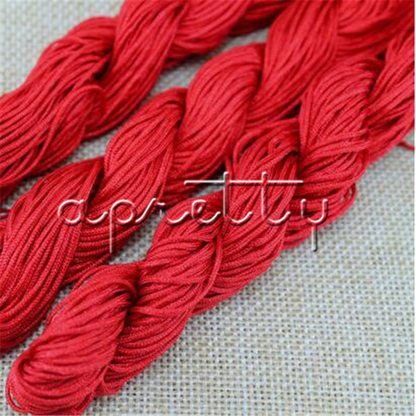 DIY Beads Rope 1mm Wide Red Color 1 string Jewelry making Cord Rope For Bracelet Necklace