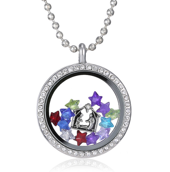 Silver Heart magnetic glass floating charm locket Zinc Alloy Free shipping (chains included for free) free ship