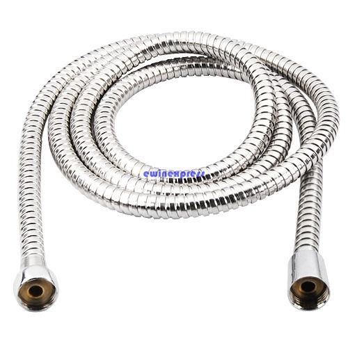 best selling Hot sale top quality 2m Flexible Stainless Steel Chrome Standard Shower Head Bathroom Hose Pipe New