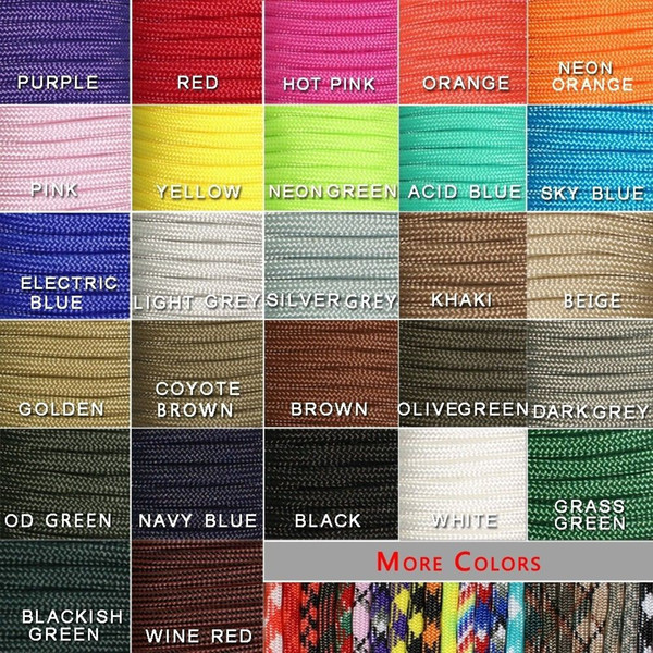best selling 100FT 550 Paracord Parachute Cord Lanyard Mil Spec Type III 7 Strand Core