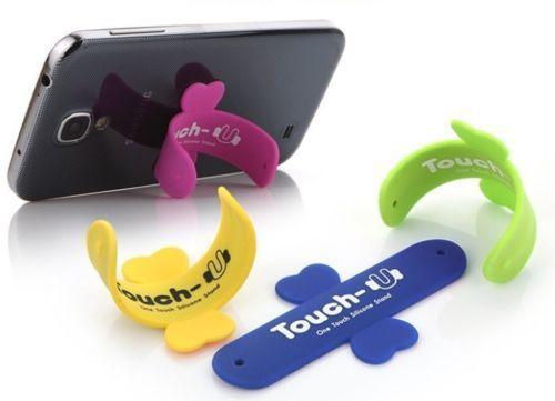 Toptan Satış - Toptan-2pcs Cool gadget Touch-U Silikon iphone 6 5 5s samsung galaxy s5 için Telefon Tutucu Mobil destek suporte para celular Standı